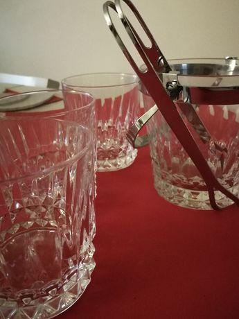 Copos de Uísque e geleira Baccarat Cristal