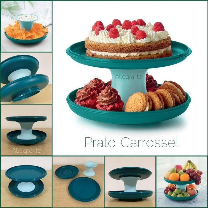 Prato Carrossel Tupperware