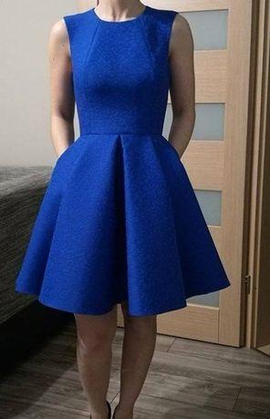 Sukienka chabrowa emo rozm. 36 z kieszeniami