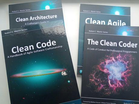 4 книги Clean Architecture, Coder, Clean Code, agile Robert Martin