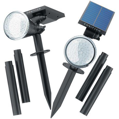 41 LED 4 цвета 3 высоты Светильник в землю на солнечной батарее 2 шт