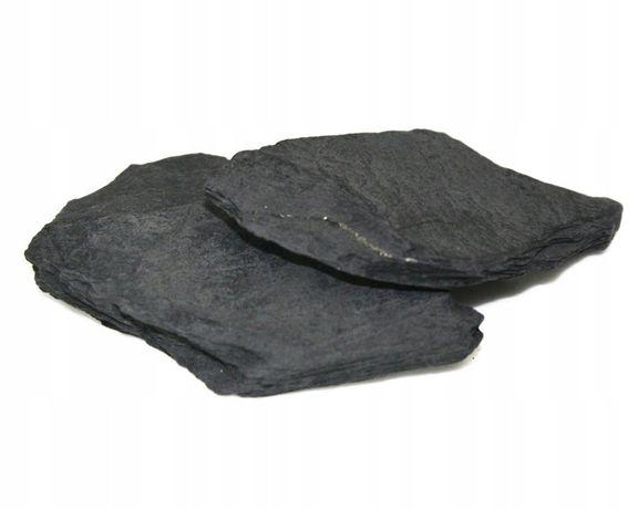 Czarne Płytki Płaski Kamień AKWARIUM NA GROTY Kurier Wysyłka