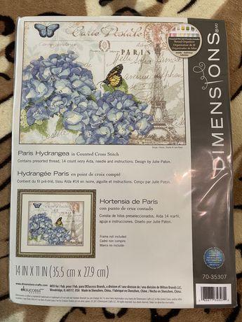 Набор для вышивки Dimensions Paris Hydrangea 70-35307