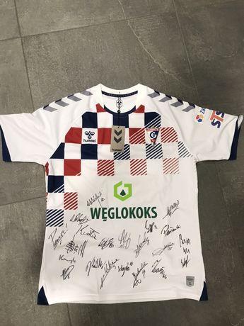 Koszulka Gornika Zabrze z podpisami zawodnikow