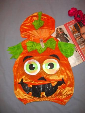 Костюм тыква 1-2 года 92 рост гарбуз Хэллоуин Halloween