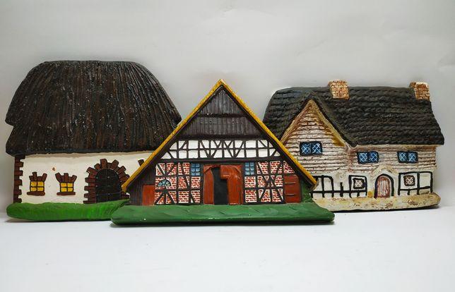 Набор винтажных декоративных настенных домиков ручной работы. Германия