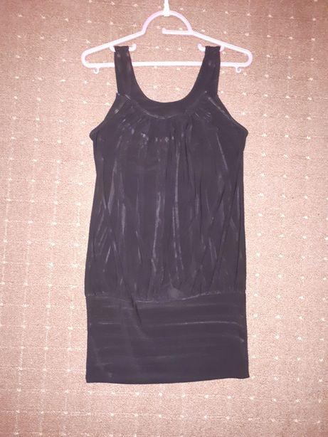Tunika roz M L czarna z paskami złotymi sukienka bluzka