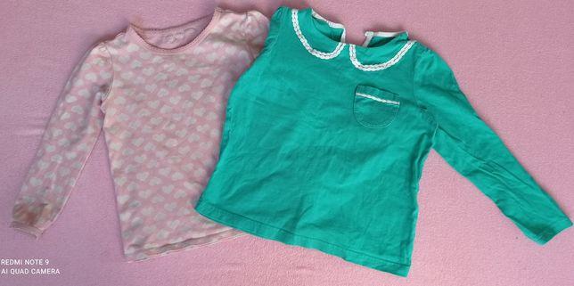 Zestaw bluzeczek 92 bluzka długi rękaw Gap
