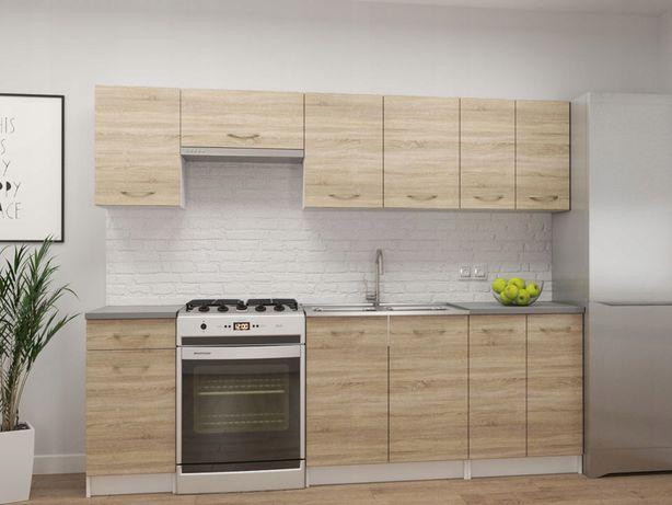 Zestaw mebli kuchennych Toronto TANIE Sonoma +Blat