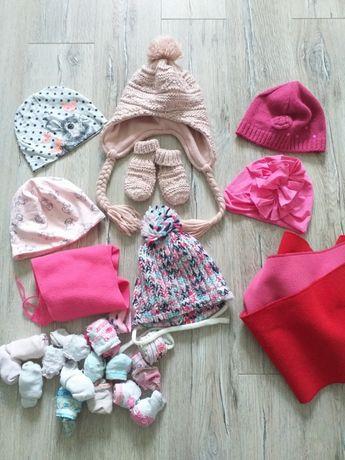 Zestaw czapek zimowo wiosennych na 12 m