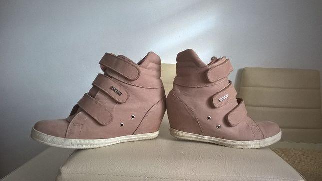 śliczne botki sneakersy Snikersy Zapato roz 37 skórzane