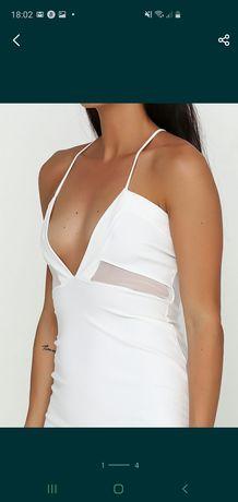 Белое lux платье
