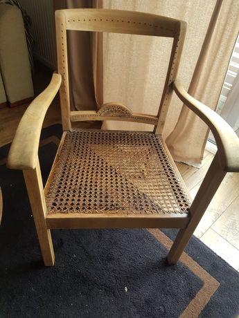 Stare krzesło art deco rattan