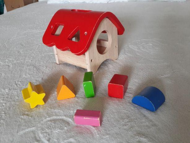 Goki сортер деревянный дом теремок развивающий экологический геометрия