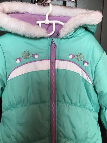 Куртка тепла для дівчинку на 4-6р