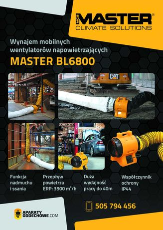 Wynajem Wentylatora MASTER BL 6800, napowietrzanie, Katowice, Śląsk