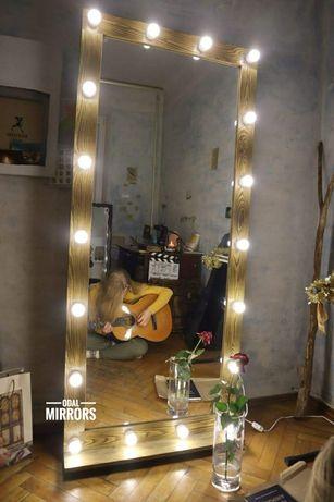 Напольное зеркало с подсветкой в полный рост в раме