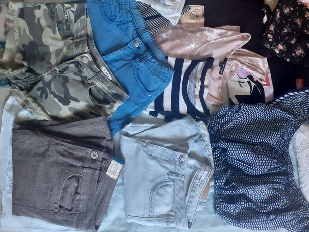 Lote 15peças calças e calções nr 34 /  blusas ,tops,  body, vestido, S