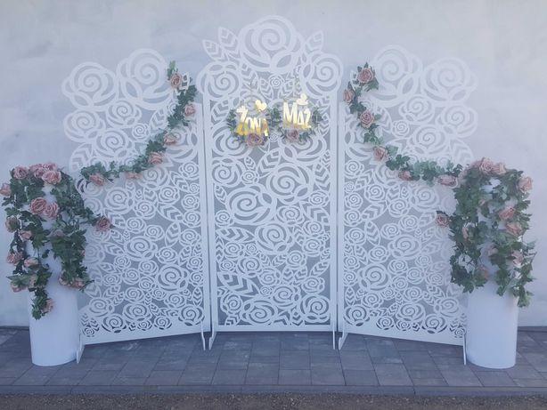 Ścianka dekoracyjna . Ścianka Ślubna