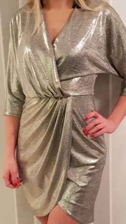 Sukienka srebrna 36