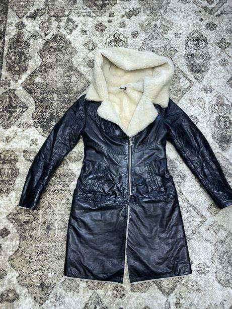 Натуральная дубленка (куртка) из лазерной кожи на натуральном ме
