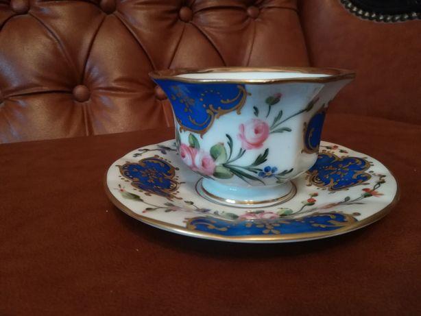 Chávena de chá da vista alegre pintada à mão