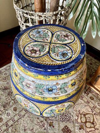 Banco Banqueta Mesa Tamborete Ceramica Decoração