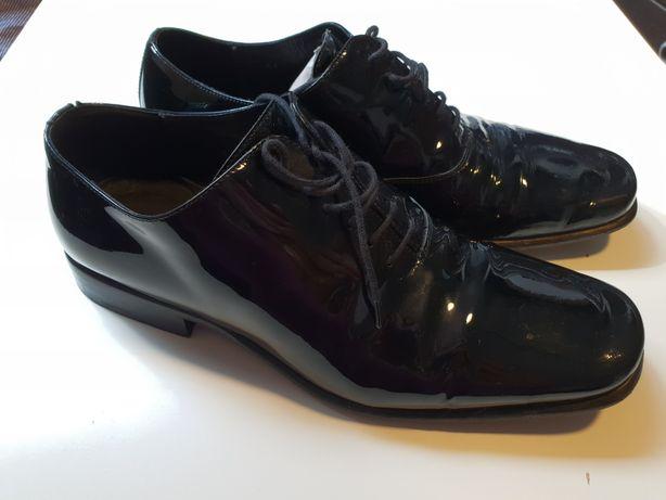 Gino Rossi buty eleganckie lakierowane 41 ślub pan młody wizytowe