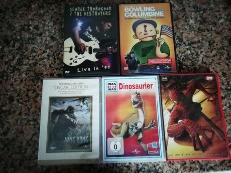 5 Filmes Dvd Homem Aranha King Kong Dinossauros
