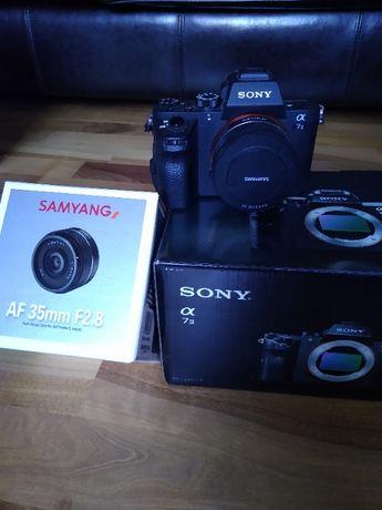Sony Alpha 7II A7alfa plus samyang AF 35 na liczniku 4790