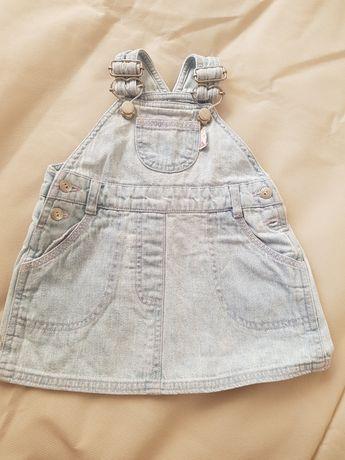 Jeansowe sukienka na szelki