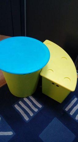 plastikowy zestaw ławka i stół Ikea Glis