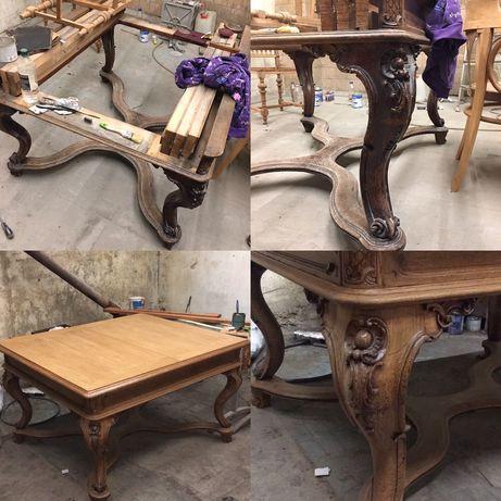 Реставрация любой сложности деревянных и металлических изделий!