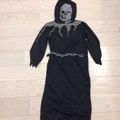 Sukienka, tunika, przebranie karnawałowe druida, śmierci, kostuchy.