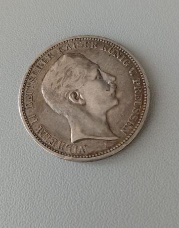 3 марки 1909 года. Вильгельм II. Германская Империя