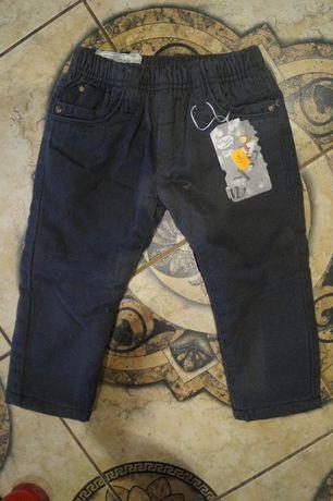 Spodnie chłoięce ocieplane na zimę r 92
