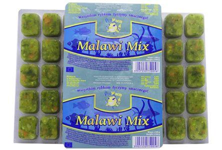Malawi mix - roślinny pokarm mrożony dla ryb
