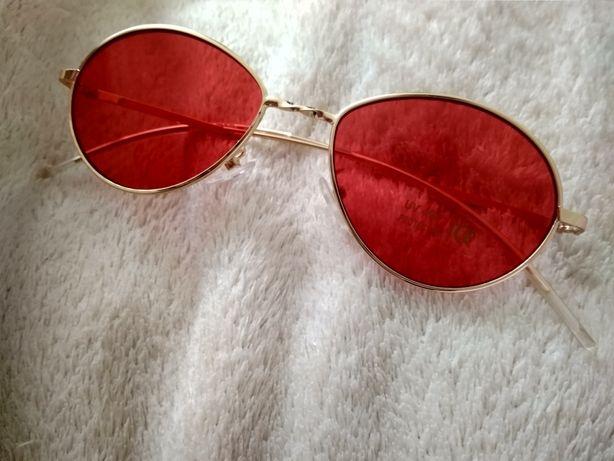 Супер модные красные очки