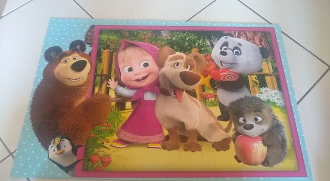 Puzzle maxi Masza i niedźwiedź