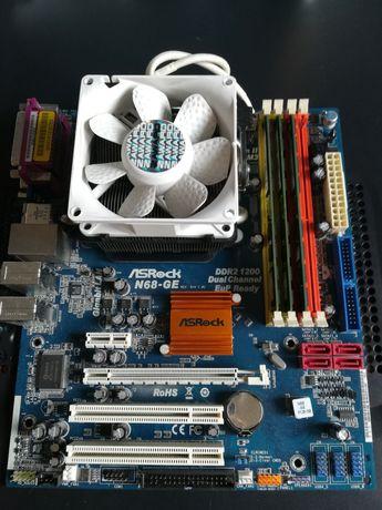 Płyta ASRock N68-GE DDR2 1200 z procesorem AMD Athlon 64 Dual Core