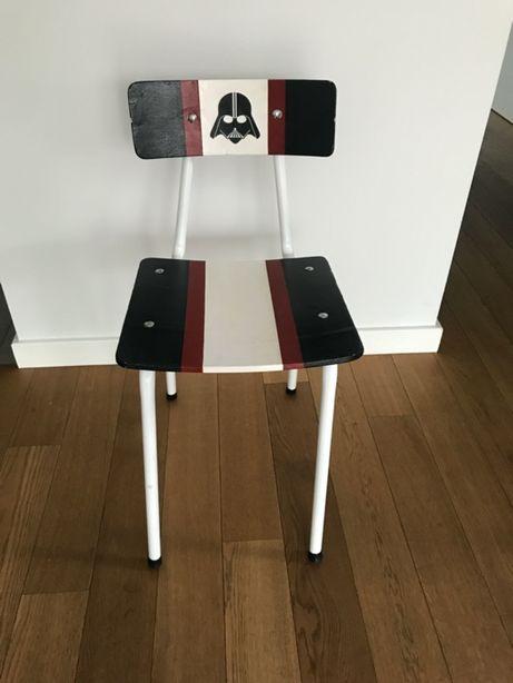 Krzesło szkolne vintage ręcznie malowane star wars