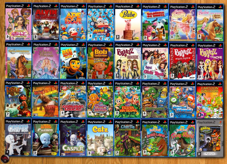 [PS2] 250 Jogos MENINA/CRIANÇA até 12 Anos (Vendo à Unidade) Penha De França - imagem 1