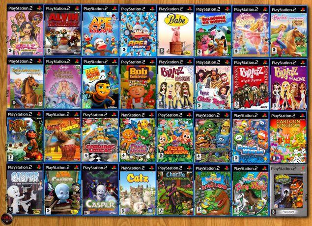 [PS2] 250 Jogos MENINA/CRIANÇA até 12 Anos (Vendo à Unidade)