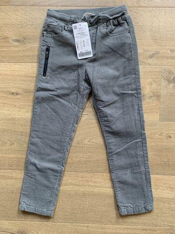 Nowe spodnie sztruksowe Coccodrillo rozm 122