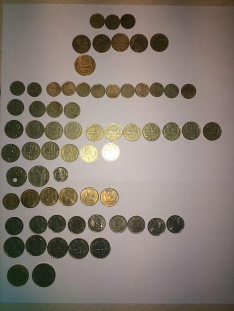 Монеты СССР (2,3,5,10,15,20,50 коп, и 1,5,10,20,50,100 руб)