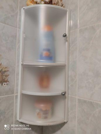 Estante para duche com duas portas