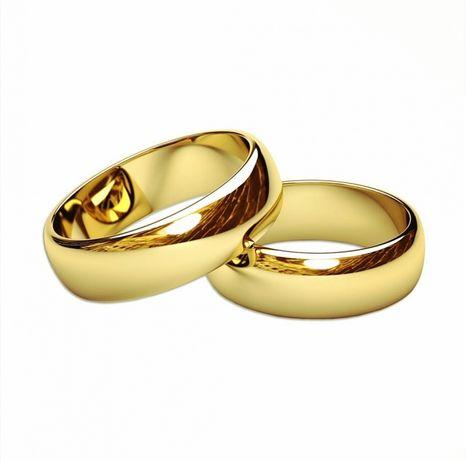 Perfekcyjny KOMPLET Złotych Obrączek Ślubnych