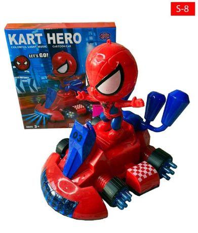Светящаяся машинка Человек паук