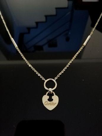 Piękny łańcuszek Cartier złoty 585 14 karat serce