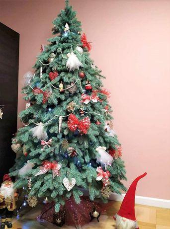 Ель новогодняя искусственная зелёная как настоящая Ёлка литая